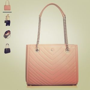 NWT Kate spade quilted leather pink purse